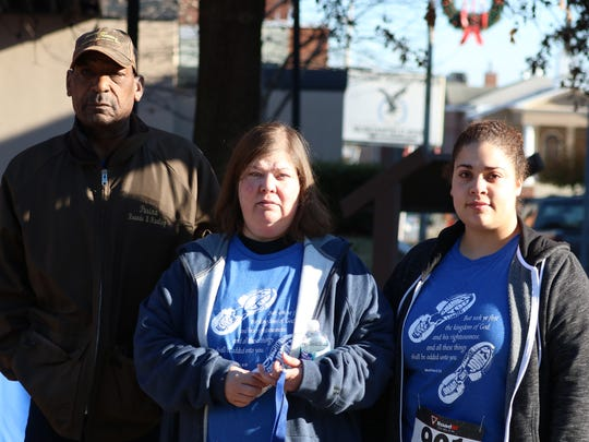 "Brian Jones' family was in attendance during the 5K. From left to right: Father, Jerry Wayne ""Sam"" Jones, Mother, Marilyn Jones, and sister, Samantha Jones."