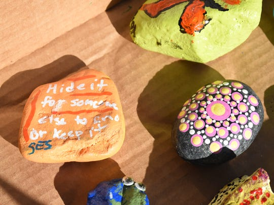 A couple of weeks following Hurricane Irma, students, faculty and staff at St. Elizabeth Seton Catholic School in Naples started a rock sharing project. The hand-painted rocks that share positive written messages are meant to be hidden around the community for people to find.