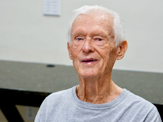 Gerry Duxbury, 91, has been a Y member since his wife died nine years ago. He's taken exercise and fitness classes, and works out regularly with a personal trainer. He says it's lonely living alone, but the Y has given him a whole new social circle of friends.