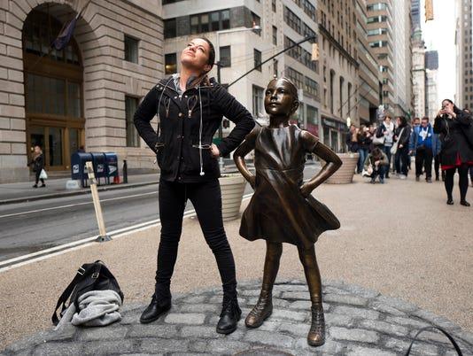 AP APTOPIX FEARLESS GIRL WALL STREET A USA NY