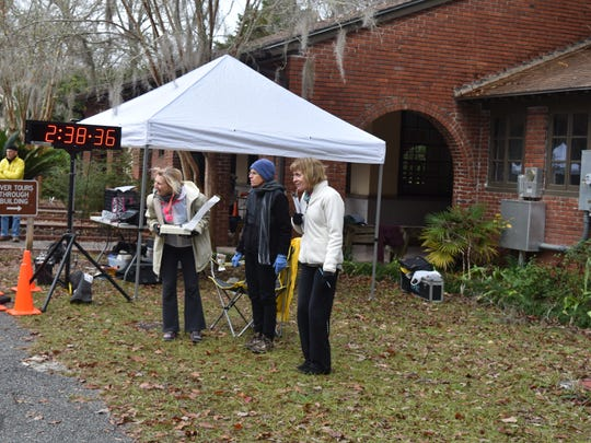 Support crew for Gulf Winds Track Club's  2017 Ultra Distance Classic held Saturday Dec. 9.