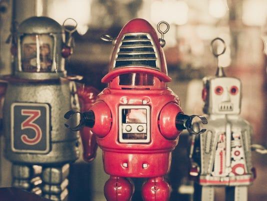 old classic tin robot toys