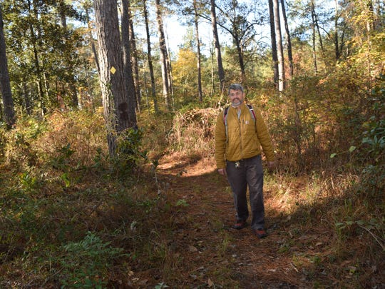 "River Oaks Square Artistic director Aubrey Bolen is an avid hiker and backpacker. Bolen is a National Recreation Trail ambassador for the U.S. Forestry Service. He is one of the ""community explorers"" who will be leading one of the hikes  for the Wild Azalea Trail Blitz set for Saturday, April 13, 2019."