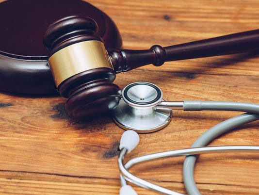 Stethoscope and gavel Stock