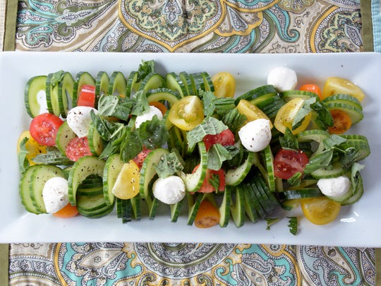 This variation on caprese salad sits on a bed of spiralized