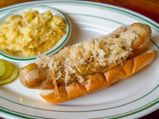 Fresh sausages are made in-house at Elrod's.