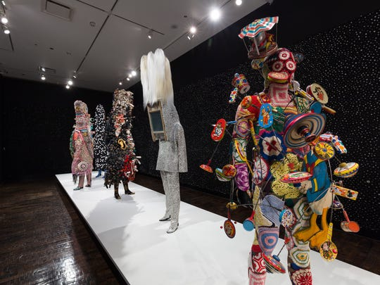 """Nick Cave, """"Feat,"""" Frist installation."""