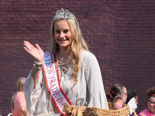 Grace Holloran waves to the crowd during the 44th annual