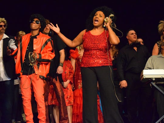 Tamala Howard performs in the pantomime that benefited
