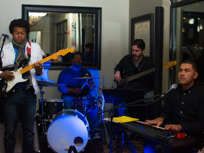 The band Tighten Up performs at Juniper Moon in Des