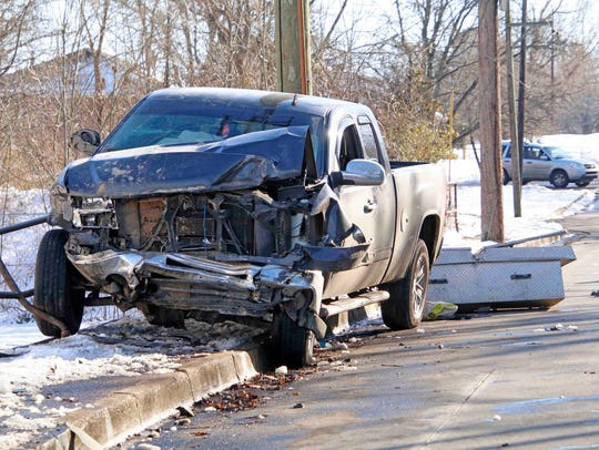 A wreck Thursday afternoon at Crossland Avenue and