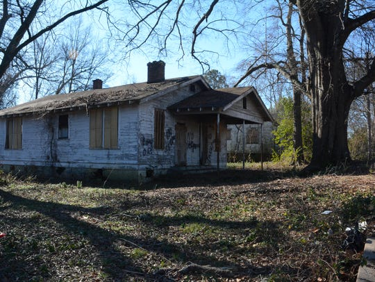 An abandoned property on Prentiss Street.