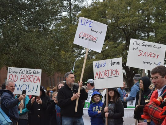 The Louisiana March for Life, hosted by the Cenla Pregnancy Center and Louisiana Right to Life, was held Saturday, Feb. 3, 2018. Participants gathered at Louisiana College in Pineville and marched towards the amphitheater in downtown Alexandria. U.S. Rep. Ralph Abraham was among those who marched and spoke at the event.