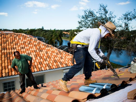 with so many roofs to fix after hurricane irma crews short waits long