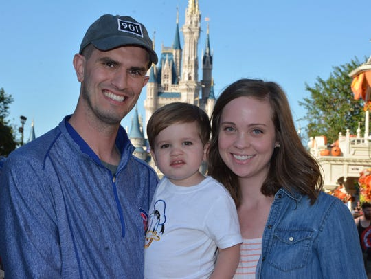 Kevin Furniss with his wife Kaitlyn and their son Benjamin.