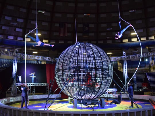 The Garden Bros. Circus was held Sunday, Feb. 4, 2018 at the Rapides Parish Coliseum. Elephants, horses, trapeze artists and dirt bikes were some of the entertainment provided to the audience.