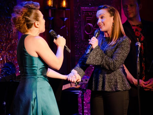 Jessica Vosk duets with Kara Lindsay during her show
