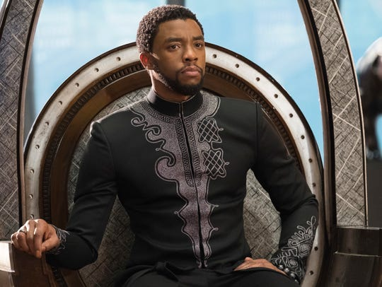 This image released by Disney shows Chadwick Boseman