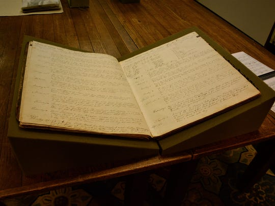 Os Deaver's diary on display at the MHU library.