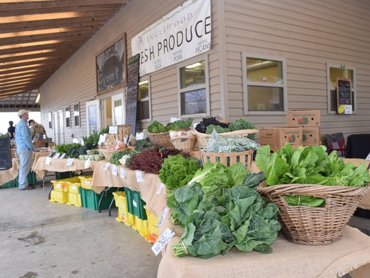 Produce is pictured at the Inglewood Farm Harvest Market,