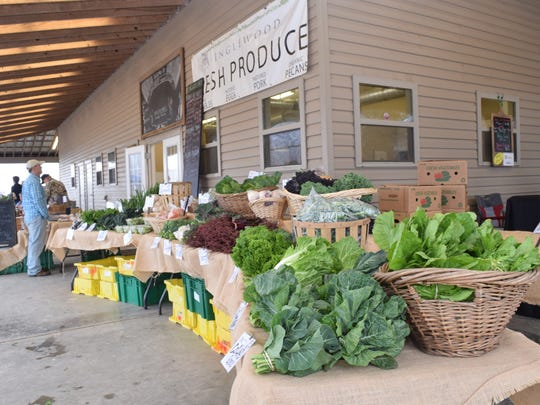 Produce is pictured at the Inglewood Farm Harvest Market, which happens from 8 a.m. to noon every Saturday on the Old Baton Rouge Highway in Alexandria, Louisiana.