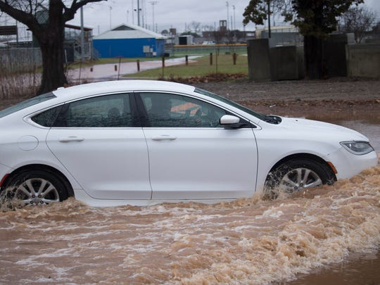 Flooding in Bossier City in the Glendale Subdivision near Shed Road Wednesday morning.