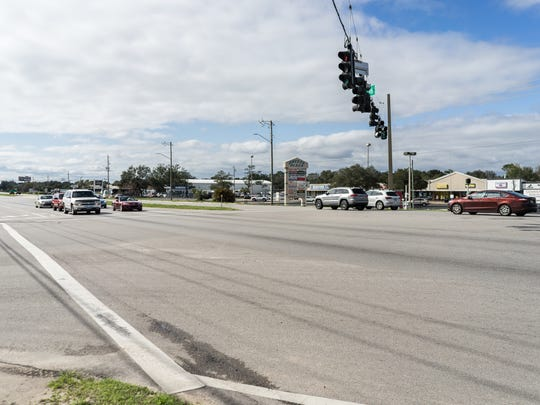 A section of U.S. 98 from Naval Live Oaks to the intersection