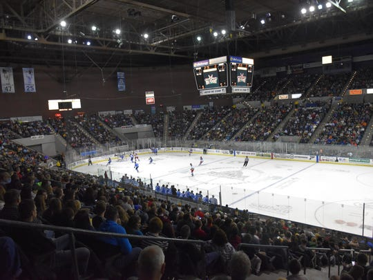 The Ice Flyers attracted a sellout crowd of 8,049 for their March 3 game against Roanoke as part of the $5 ticket weekend.
