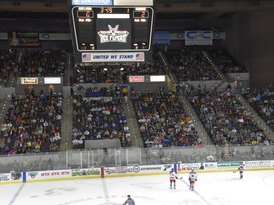The Ice Flyers attracted a sellout crowd of 8,049 March 3 for their game against Roanoke as part of the $5 ticket weekend.