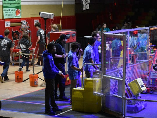 Members of FRC teams from North Brunswick Township
