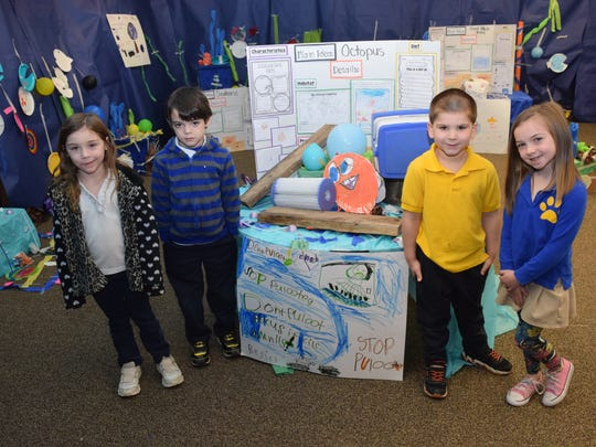 Buckeye Elementary School second graders become entrepreneurs for a day and apply knowledge that they have learned while Buckeye Kindergarteners have been learning about the ocean and the animals who live there.