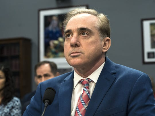 Veterans Affairs Secretary David Shulkin prepares to