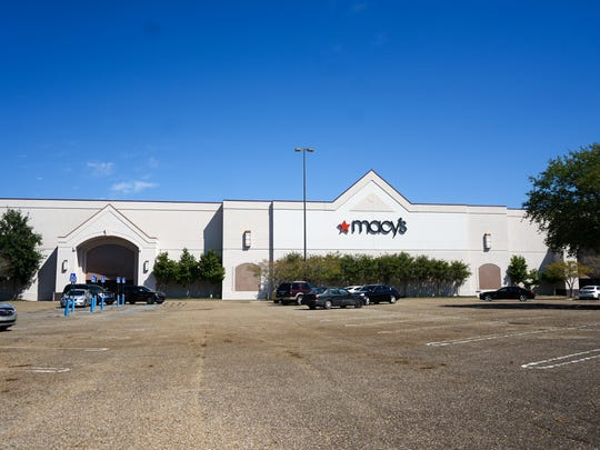 The outside of the Macy's at the Acadiana Mall is seen in March 2018.