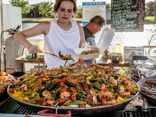 Prince Catering was one of many vendors serving up delicious seafood such as paella, pictured.