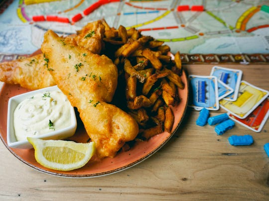Fish N Chips at Snakes & Lattes board game cafe in
