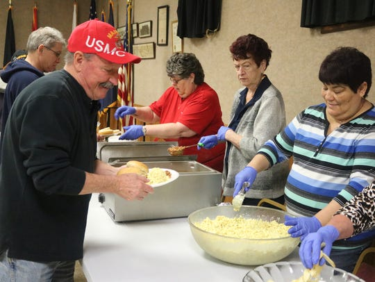 Vietnam veterans were treated to lunch following the