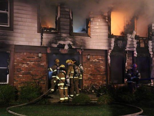 Middletown firefighters battle a Friday night blaze
