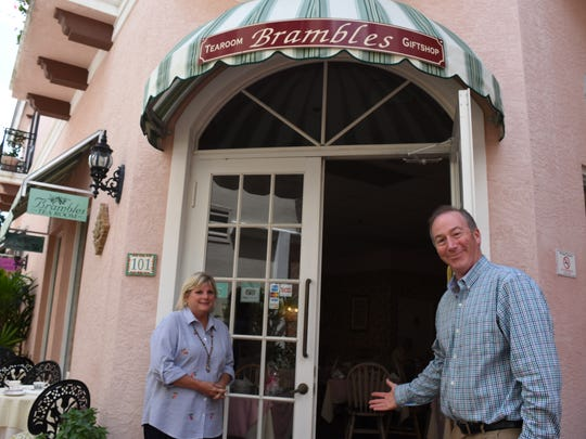 Husband and wife David and Sharon Ott own Brambles English Tea Room and Gift Shop off Fifth Avenue in downtown Naples. In honor of the royal wedding in May, the couple is hosting a party at their tea room.