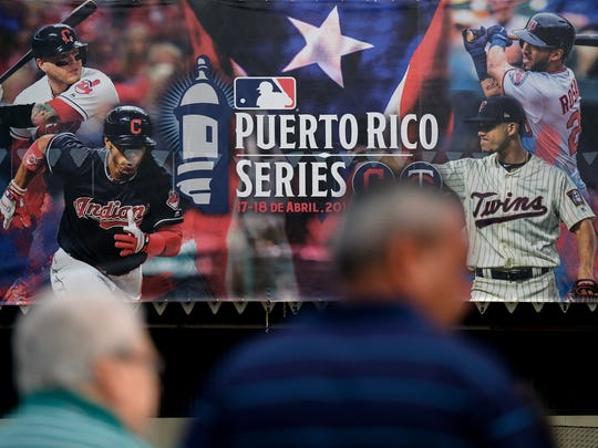SAN JUAN, PUERTO RICO - APRIL 18: Fans arrive at the Hiram Bithorn Stadium prior to the game between Cleveland Indians and Minnesota Twins on April 18, 2018 in San Juan, Puerto Rico.  (Photo by Ricardo Arduengo/Getty Images) ORG XMIT: 775135494 ORIG FILE ID: 948304908