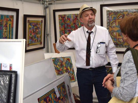 Nashville artist Jim Sherraden talks with LeMoyne Chain