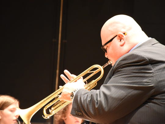 Director Dan Miller instructs Collier, Lee teens with Naples Philharmonic Youth Jazz Orchestra at a rehearsal on April 25, 2018 at Artis—Naples.