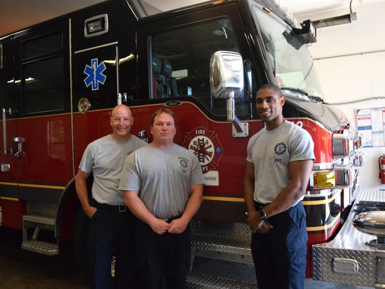 (From left to right) Lt. Todd McLanahan, Engineer Dan
