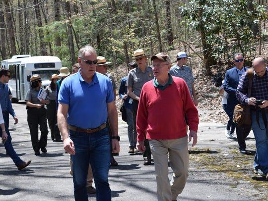U.S. Secretary of the Interior Ryan Zinke (left) and