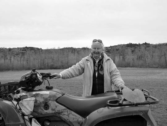 At eighty-two, Arlene Pile still loves taking her four-wheeler