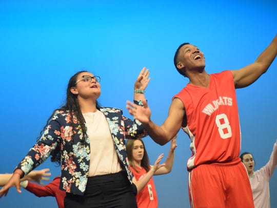 "Brylee Serret (left) portrays Taylor McKessie and Fred Jones Jr., portrays Chad Danforth in Lagniappe Theatre Company' production of Disney's ""High School Musical"" set for Thursday (May 3) through Sunday. Showtimes are 7 p.m. Thursday through Saturday and 2;30 p.m. Sunday. Tickets are $18 for adults, $16 for seniors and $13 for students and children. VIP seating is $20. Tickets can be purchased by going tickets.vendini.com.The musical is based on the Disney Channel's movie ""High School Musical"" which follows two teenagers, Troy portrayed by Christian Salazar, a jock, and Gabrielle, portrayed by Abigail Rivers, a pretty smart nerd, who audition for a high school musical and get a callback. Social cliques at school then try to break the two up. Troy has to think about the basketball championships while Gabrielle has to think about the academic decathlon."
