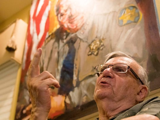Sheriff Joe Arpaio speaks to the Arizona Republic about