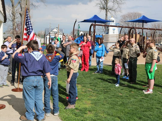 The Port Clinton Tree Commission, along with local Cub Scouts and Girl Scouts, celebrated Arbor Day on Friday, April 27.