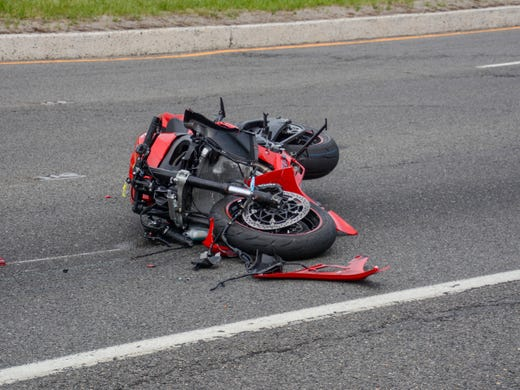 Toms River accident: Motorcycle crash backs up Route 37