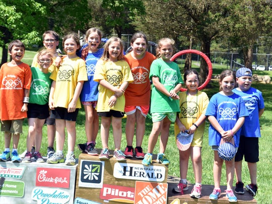 These students competed in every event during Gold Medal Math competition with Mooreland Height Elementary on Friday, May 11.