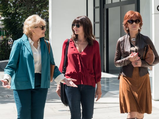Candice Bergen (from left), Mary Steenburgen and Jane